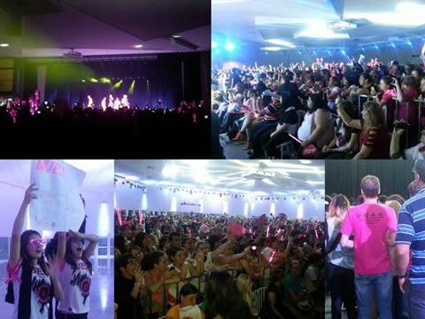 Konser NU\EST di Brazil Meriah