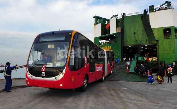 Foto: Bus TransJakarta China (dok.detikFinance)