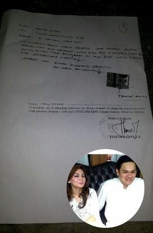 Ini Surat Pernyataan Cerai Dari Farhat Abbas Untuk Nia Daniati