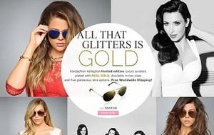 Kardashian Bersaudari Rilis Koleksi Kacamata Berlapis Emas