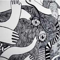76+ Gambar Mural Hitam Putih Paling Keren
