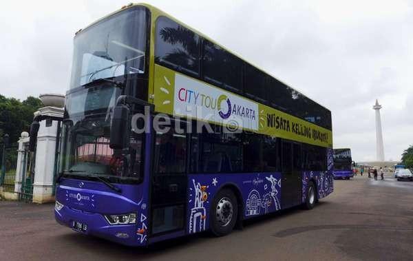 Bus Tingkat Pariwisata City Tour Jakarta Siap Beroperasi Hari ini