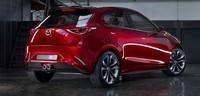 Bagian belakang Mazda Hazumi. Masih mempertahankan garis desain Mazda2. (Istimewa/Mazda).