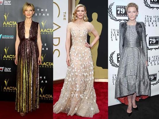 Penampilan Red Carpet Cate Blanchett di Awal Tahun