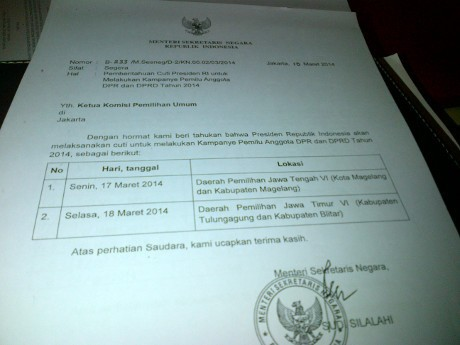 Kpu Sudah Terima Izin Cuti Kampanye Sby Dan 5 Menteri