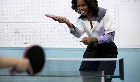 Berkunjung ke China, Michelle Obama Bangkitkan Kenangan Diplomasi Pingpong