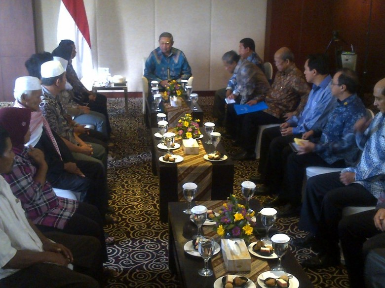 Bertemu 4 Keluarga TKI, SBY: 246 WNI Menunggu Pengampunan Hukuman Mati