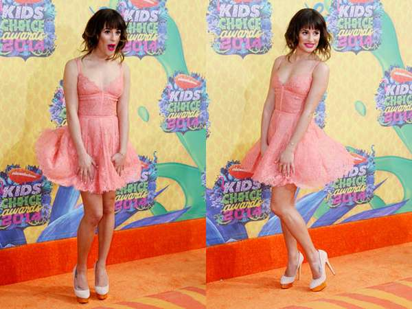 Ups! Dress Lea Michele Tertiup Angin