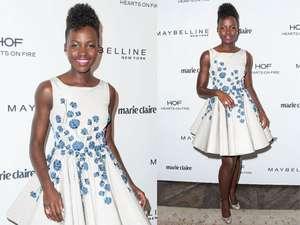 Lupita Nyongo Stylish Dibalut Dress Putih