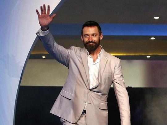 Hugh Jackman di Premiere X-Men: Days Of Future Past Singapura