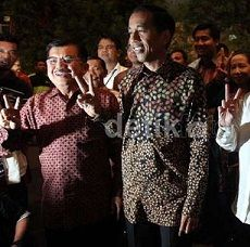 Pendukung Jokowi-JK Kuasai Car Free Day Dago