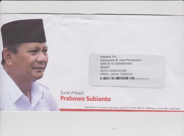 Puluhan Surat Cinta Prabowo Untuk Guru Di Semarang