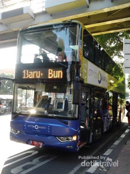 Tampilan Double Decker City Tour Jakarta