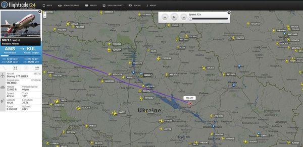 Ini Penampakan Posisi Terakhir MH17 di Radar Sebelum Diroket