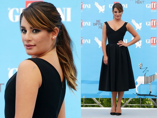 Klasik Dibalut Dress Hitam ala Lea Michele