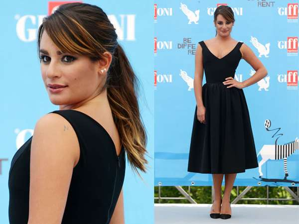 Klasik Dibalut Dress Hitam ala Lea Michele