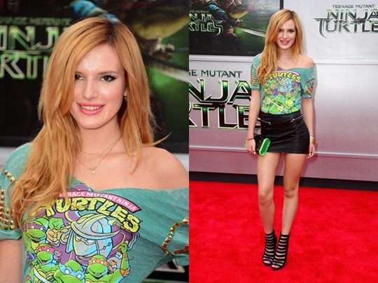Rok Mini Kulit Bella Thorne