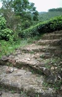 Tangga menuju puncak Bukit Borobudur