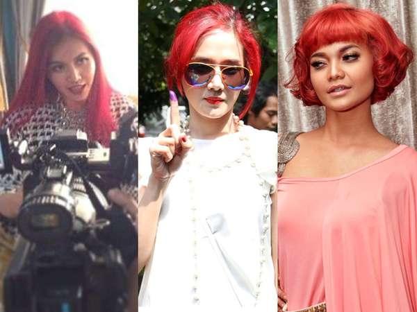Artis Indonesia yang Eksis Berambut Merah