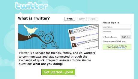 Logo awal Twitter