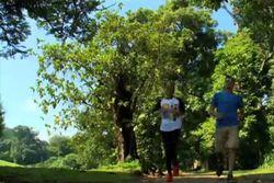Jogging Bareng Ben Joshua & Adinia Wirasti di Kebun Raya Bogor