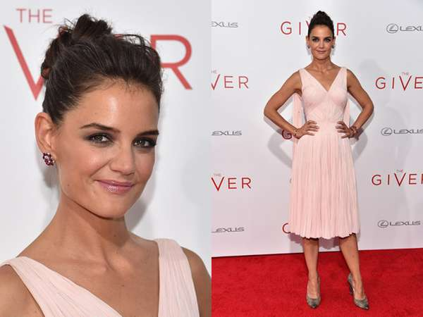 Pretty in Pink Katie Holmes