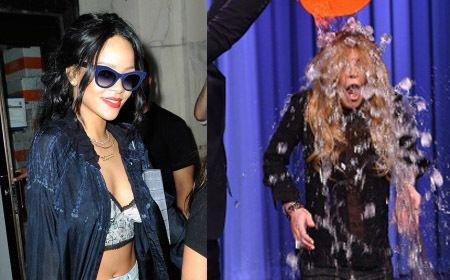 Rihanna Pamer Perut Lindsay Lohan Ice Bucket Challenge