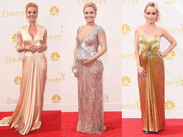 Glamor Bergaun Silver dan Gold di Emmy Awards 2014