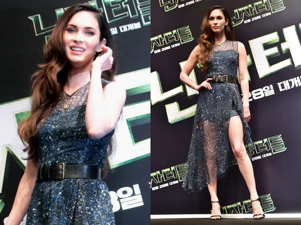 Dress Menerawang Megan Fox di Seoul