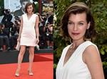 Gaya Simple Milla Jovovich di Paris Fashion Week