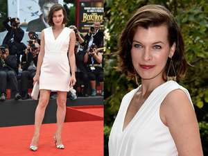 Gaya Simple Milla Jovovich di Paris Fashion Week