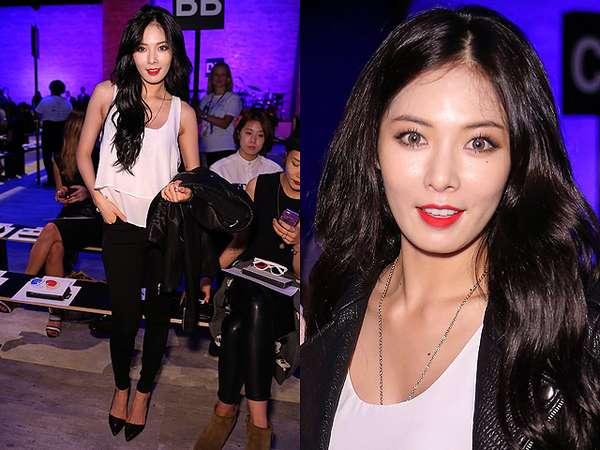 Gaya HyunA 4Minute di New York Fashion Week