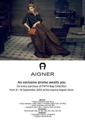 Aigner Bag Exclusive Promo
