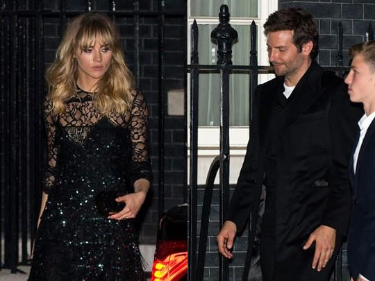 Bradley Cooper dan Suki Waterhouse Kompak Serba Hitam