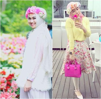 Hijab Style Tampil Unik Dengan Mahkota Bunga Ala Dian