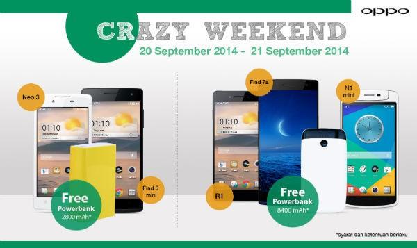 Crazy Weekend bentuk apresiasi OPPO dalam memanjakan Konsumen