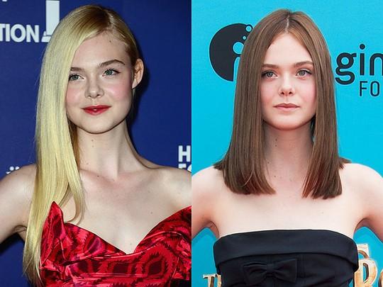 Elle Fanning Lebih Cantik Rambut Pirang atau Coklat?