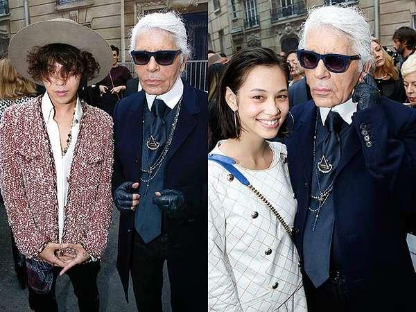 G-Dragon dan Kiko Mizuhara di Fashion Show Chanel