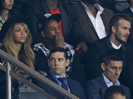 Beyonce dan Jay Z Nobar Sepakbola dengan David Beckham