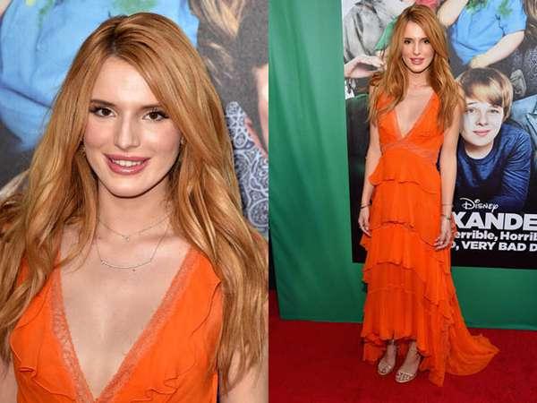 Gaun Oranye Bella Thorne