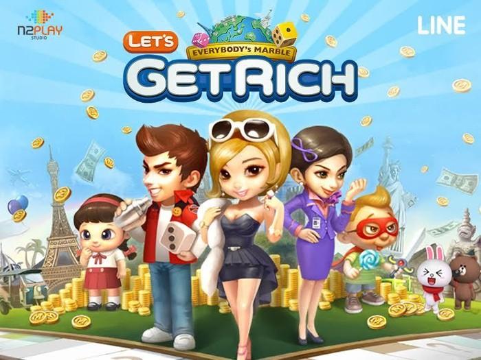 Hasil gambar untuk gambar line let get rich