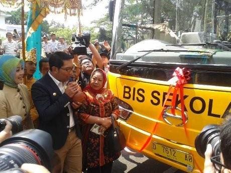 Ridwan Kamil Bercita-cita Bandung Punya 100 Bus Sekolah Gratis