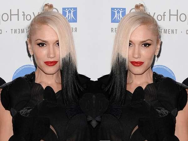 Rambut Ombre Hitam-putih Gwen Stefani