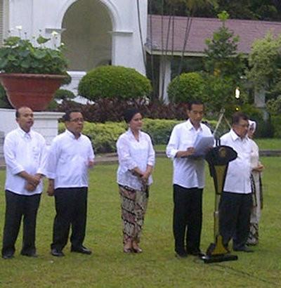 Ini Susunan Lengkap Kabinet Kerja Jokowi-JK