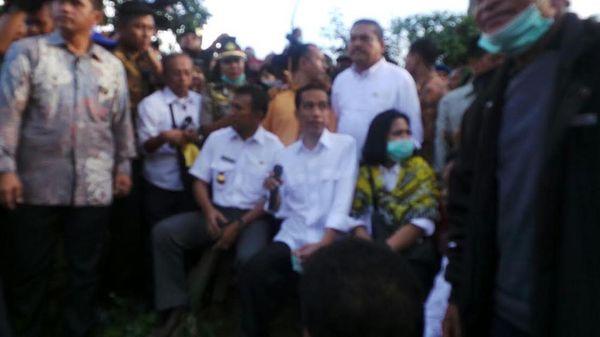 Jokowi Datang, Masalah Relokasi Pengungsi Gunung Sinabung Langsung Beres