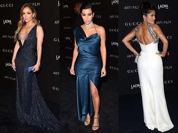 Hot Mama! Gaun Seksi J.Lo, Kim Kardashian Hingga Salma Hayek