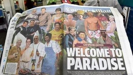 Gambar Jokowi Pakai Celemek di Tabloid Australia Dianggap Tak Sopan