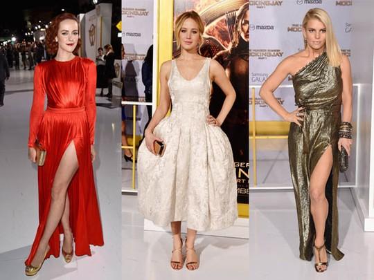 Gaya Glamor dan Anggun Para Bintang di Premiere 'The Hunger Games'