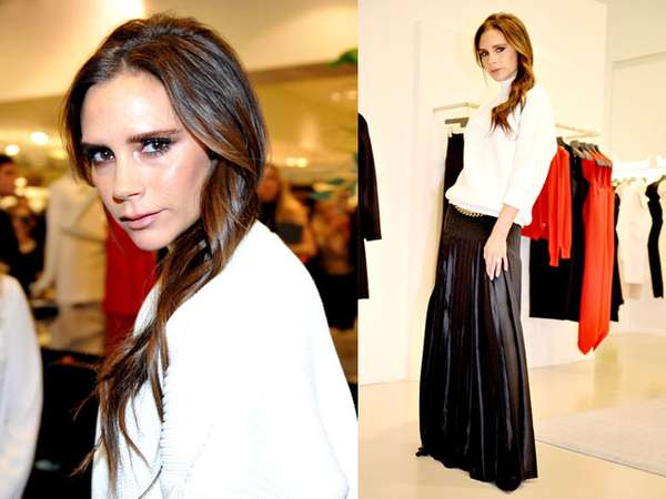 Simple dan Stylish Hitam-putih ala Victoria Beckham