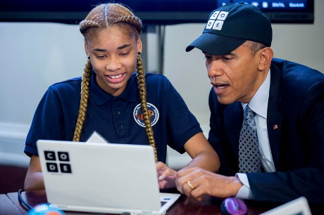 Obama di Hour of Code
